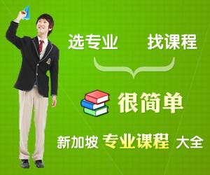 选专业找课程很简单 新加坡专业课程大全